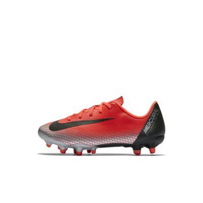 Футбольные бутсы для игры на разных покрытиях для дошкольников Nike Jr. Mercurial Vapor XII Academy CR7