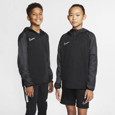 Ποδοσφαιρική μπλούζα προπόνησης με κουκούλα Nike Dri-FIT Repel Academy για μεγάλα παιδιά