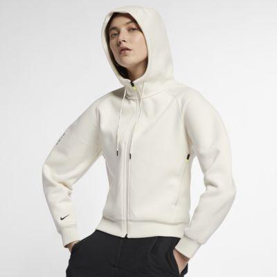 Nike Sportswear Tech Pack hosszú cipzáras, kapucnis női polárpulóver
