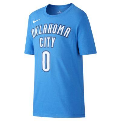 T-shirt do koszykówki dla dużych dzieci (chłopców) Nike Icon NBA Thunder (Westbrook)