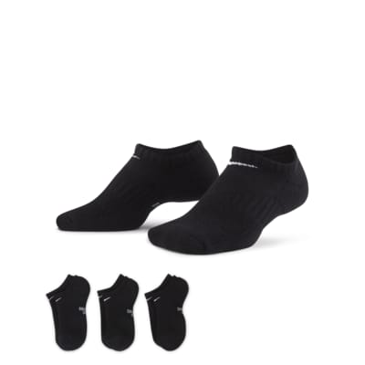 Nike Performance Cushioned No-Show treningssokker for barn (tre par)