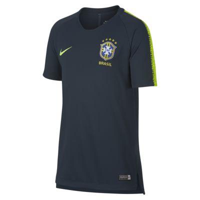Brazil CBF Breathe Squad Older Kids' Football Top
