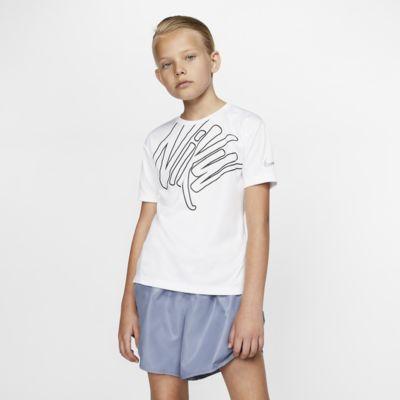 Nike Dri-FIT Big Kids' (Girls') Short-Sleeve Running Top