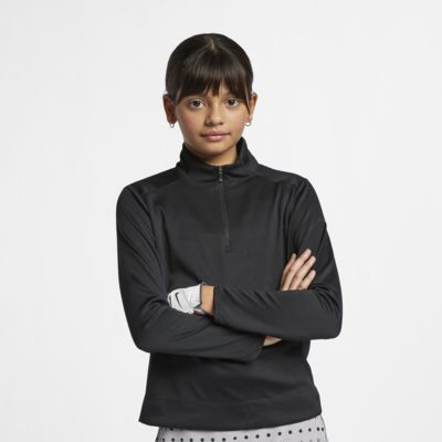 Haut de golf à manches longues et 1/4 de zip Nike Dri-FIT pour Fille plus âgée