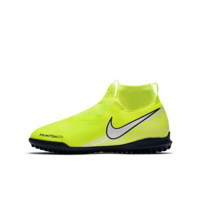 Fotbollssko för grus/turf Nike Jr. Phantom Vision Academy Dynamic Fit för barn/ungdom