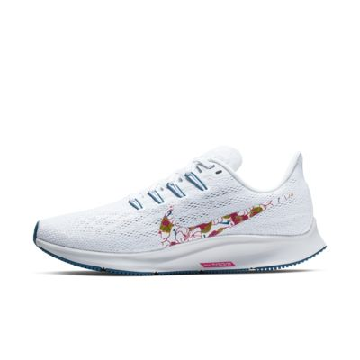 Купить Женские беговые кроссовки Nike Air Zoom Pegasus 36, Белый/Vast Grey/Зеленая бездна/Невероятный розовый, 22905555, 12553858