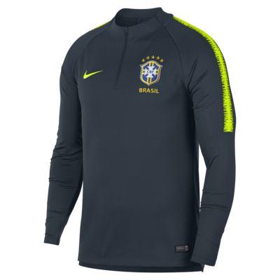 Pánské fotbalové tričko s dlouhým rukávem Brazílie CBF Dri-FIT Squad Drill