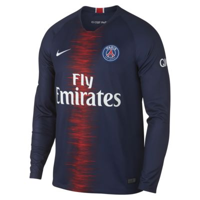 2018/19 Paris Saint-Germain Stadium Home Men's Long-Sleeve Football Shirt