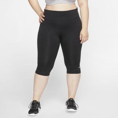 Damskie spodnie treningowe capri Nike One (duże rozmiary)