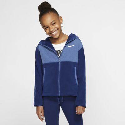 Nike Therma Older Kids' (Girls') Full-Zip Training Hoodie
