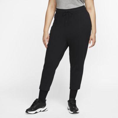 Damskie spodnie z dzianiny Nike Sportswear Swoosh (duże rozmiary)