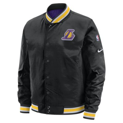 洛杉矶湖人队 Courtside Nike NBA 男子双面穿夹克