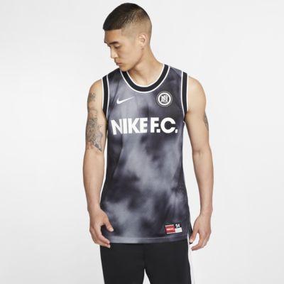 Ærmeløs Nike F.C.-fodboldtrøje til mænd