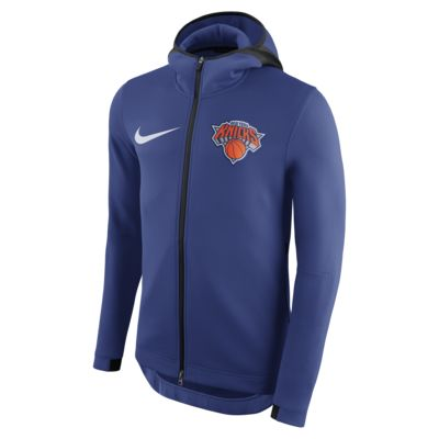 Felpa New York Knicks con cappuccio Nike Therma Flex Showtime NBA - Uomo