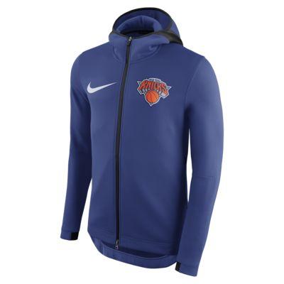 New York Knicks Nike Therma Flex Showtime NBA-s kapucnis férfipulóver