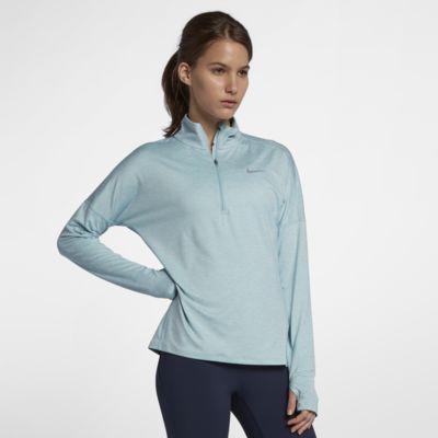 Långärmad löpartröja med halv dragkedja Nike Dri-FIT för kvinnor