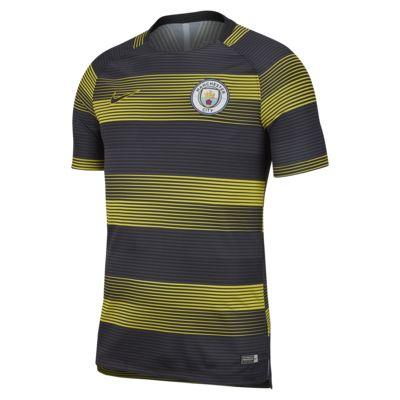 Nike Dri-FIT Manchester City Squad-kortærmet fodboldtrøje med grafik til mænd