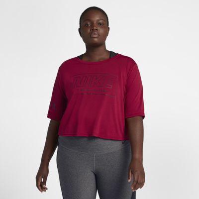Nike Camiseta de entrenamiento de manga corta (Talla grande) - Mujer