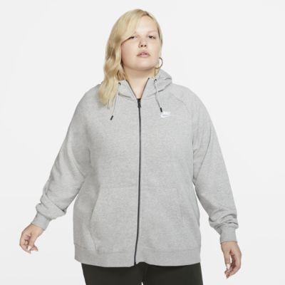 Felpa con cappuccio e zip a tutta lunghezza Nike Sportswear Essential (Plus Size) - Donna