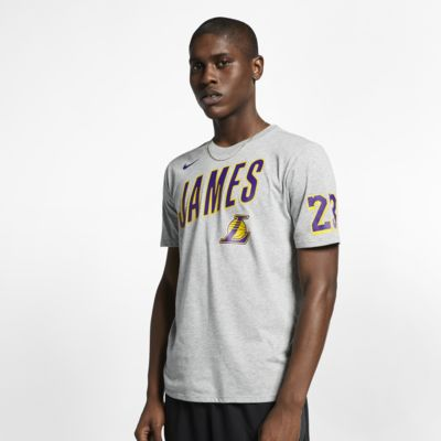 Los Angeles Lakers Nike Dri-FIT NBA-t-skjorte til herre