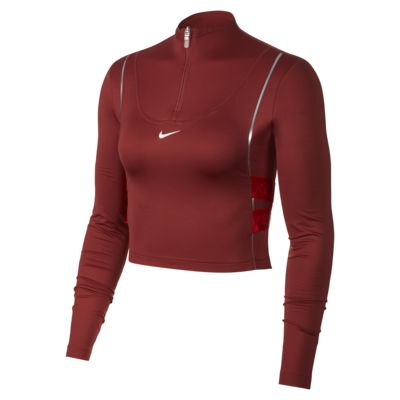 Γυναικεία μακρυμάνικη μπλούζα με φερμουάρ στο μισό μήκος Nike Pro HyperWarm