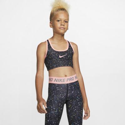 Nike Pro Older Kids' (Girls') Reversible Printed Sports Bra
