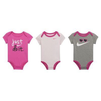Nike Rompertjesset voor baby's (0-9 maanden, 3 stuks)