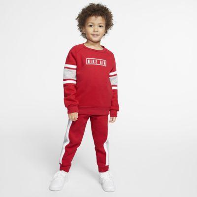 2-delt Nike Air-sæt med en crew-trøje og joggingbukser til småbørn