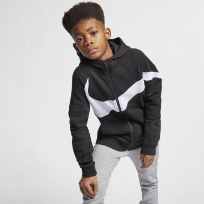 Dětská mikina Nike Sportswear s kapucí a dlouhým zipem