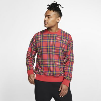 Nike 男款 Plaid 貼身圓領上衣
