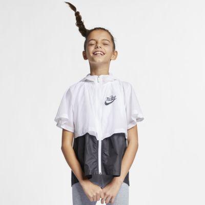 """Rompeviento repelente al agua para niñas talla grande Nike Sportswear Windrunner """"Translucent"""""""