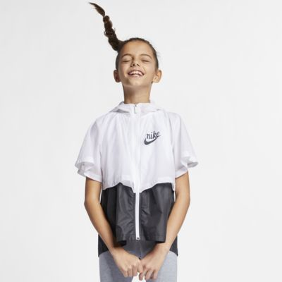 "Nike Sportswear Windrunner ""Translucent"" Big Kids' (Girls') Water-Repellent Windbreaker"