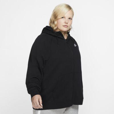 Nike Sportswear Essential hettejakke med hel glidelås for dame (stor størrelse)