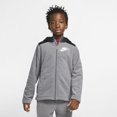 Bluza z kapturem i zamkiem na całej długości dla dużych dzieci (chłopców) Nike Sportswear Winterized
