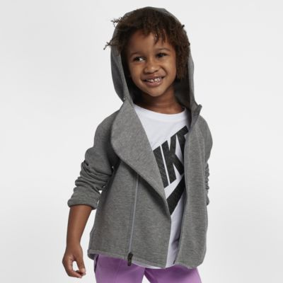 Nike Sportswear Tech Fleece Little Kids' Full-Zip Hoodie