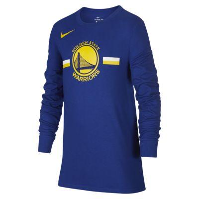 金州勇士队 Nike Dri-FI大童(男孩)长袖 NBA T恤