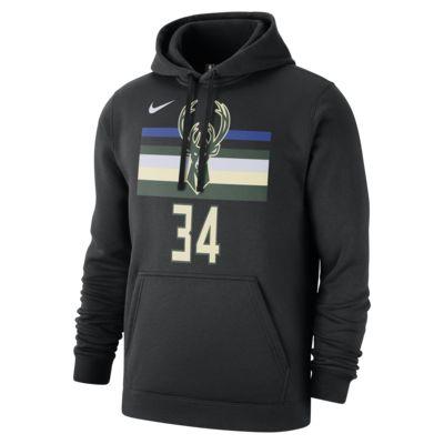 Giannis Antetokounmpo Milwaukee Bucks Nike NBA-s férfi kapucnis pulóver