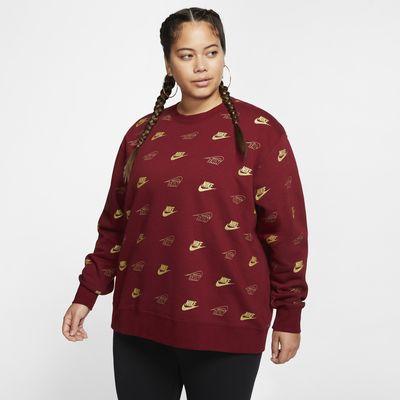 Nike Sportswear Fleece-Rundhalsshirt für Damen (große Größe)