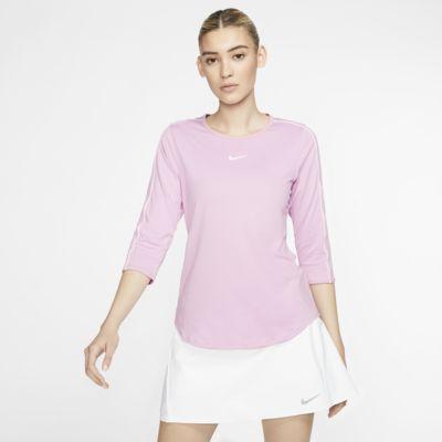 NikeCourt tennisoverdel med 3/4 ermer til dame