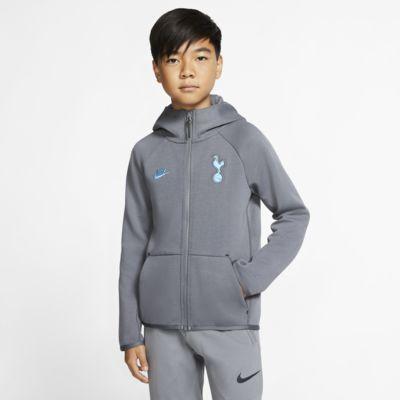 Sudadera con capucha de cierre completo para niños talla grande Tottenham Hotspur Tech Fleece Essentials