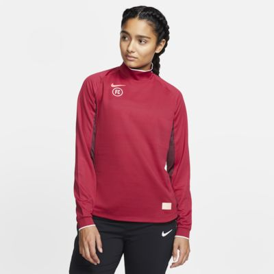 Camiseta de fútbol de manga larga para mujer Nike F.C