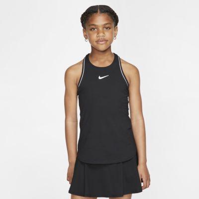NikeCourt Dri-FIT Tennistanktop voor meisjes