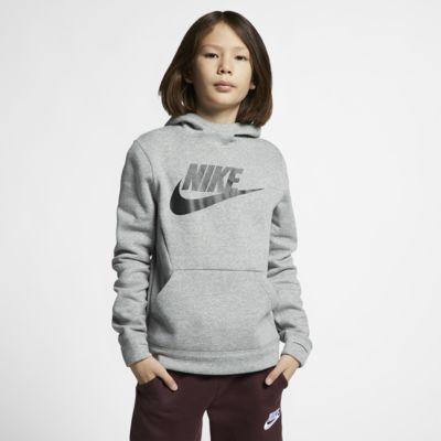 Nike Sportswear-pullover-hættetrøje i fleece til store børn
