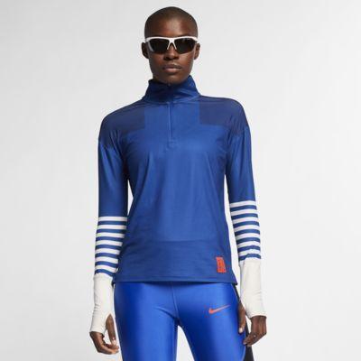 Γυναικεία μπλούζα για τρέξιμο με φερμουάρ στο 1/4 του μήκους Nike