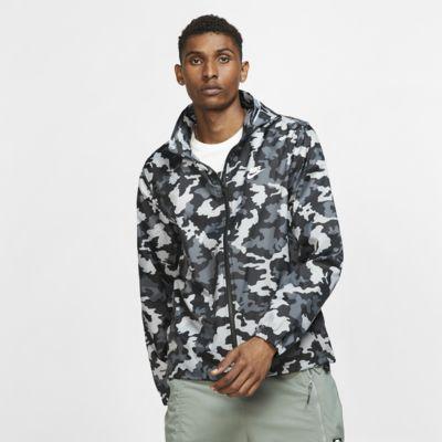 Pánská bunda Nike Sportswear s kapucí a maskáčovým potiskem