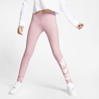 Nike Sportswear-leggings med grafik til store børn (piger)