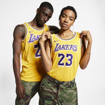 LeBron James Icon Edition Swingman (Los Angeles Lakers) Nike NBA Connected Trikot für Herren