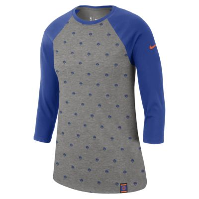 New York Knicks Nike Dri-FIT Women's 3/4-Sleeve NBA T-Shirt