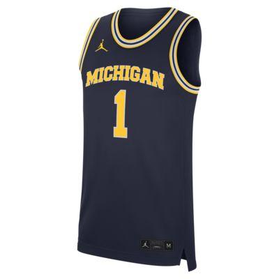 Nike College Replica (Michigan) Men's Basketball Jersey