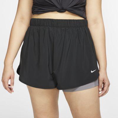 Calções de treino 2 em 1 Nike Flex para mulher (tamanhos grandes)